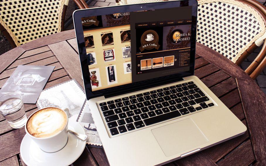 Strona sklepu internetowego A&A Coffee